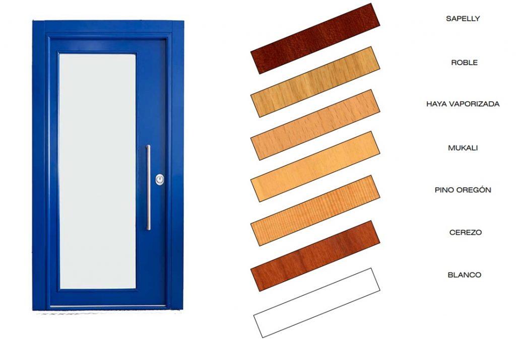 acabado madera puertas acorazadas