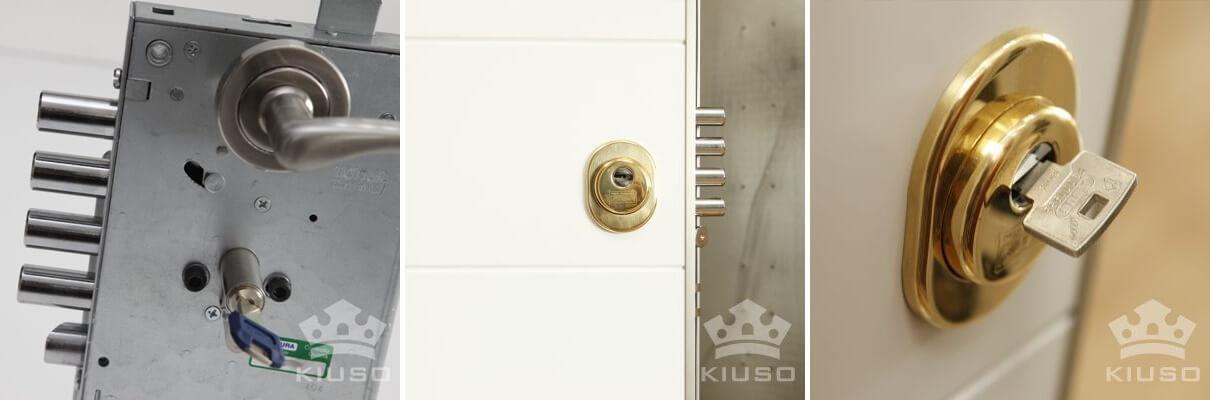 cerradura europerfil en puerta acorazada